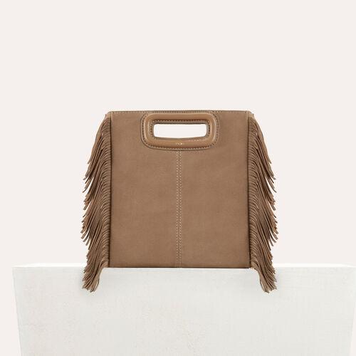 Suede M bag : M bag color Black 210