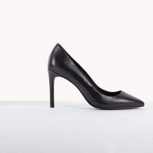 Leather pumps : Shoes color Black 210