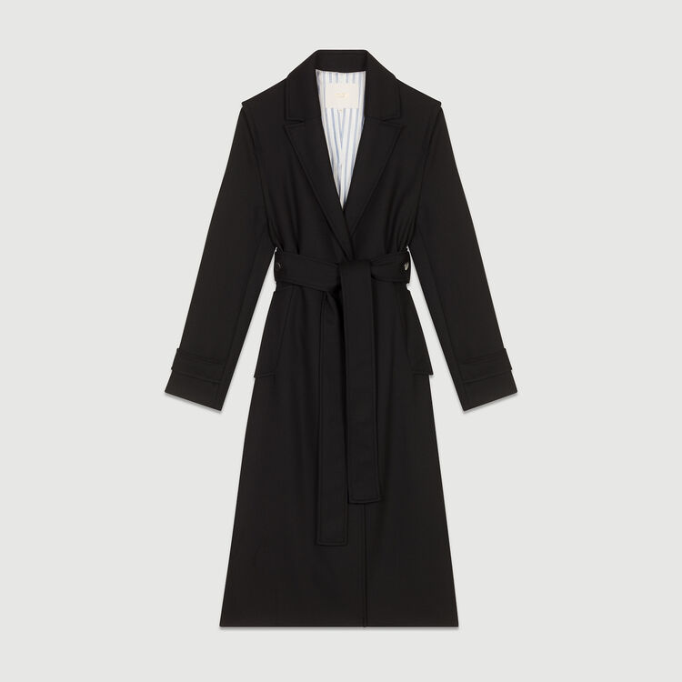 Trench coat with detachable belt : Coats color Black 210