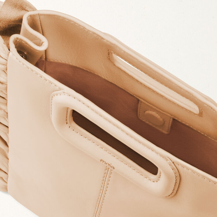 Frilled M bag : M bags color Nude