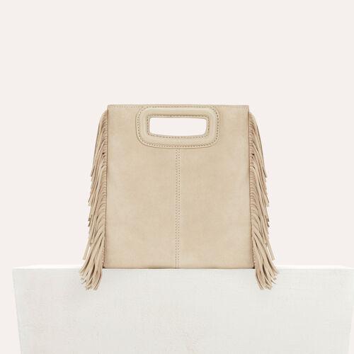 M bag in suede : M bags color Beige
