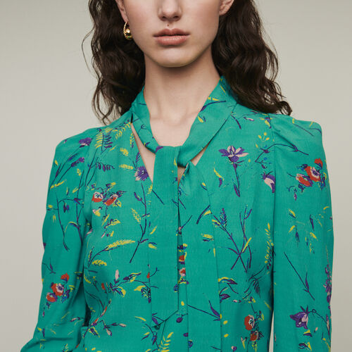 Printed blouse with lavaliere : Shirts color PRINTED
