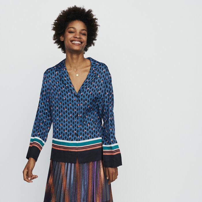 Pajama style shirt with monogram print : Tops & Shirts color Printed