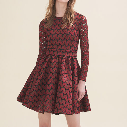 Bonded lace dress - Dresses - MAJE