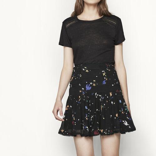 Printed chiffon skirt : Skirts & Shorts color PRINTED