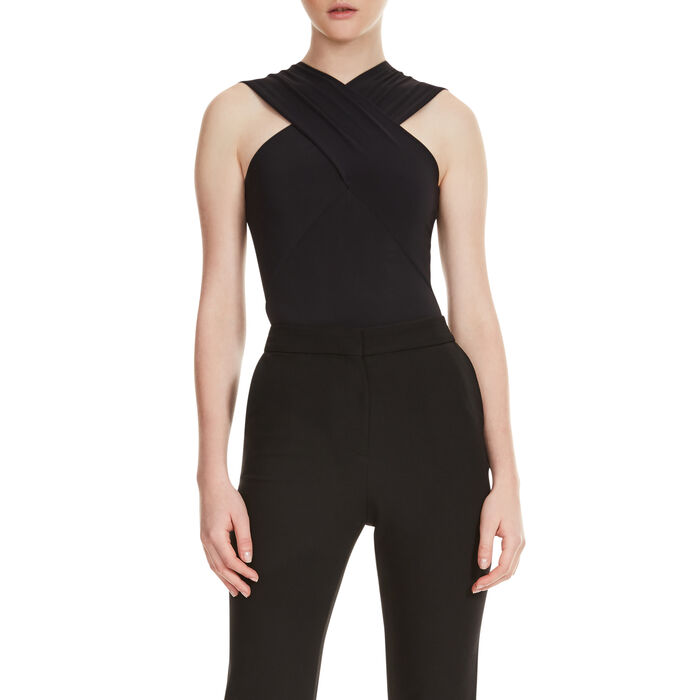 Body with crossover neckline - Ohne Rabatt - MAJE