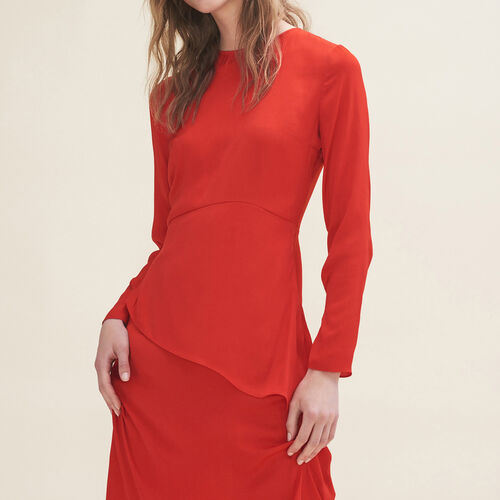 Long asymmetric dress : Dresses color Red