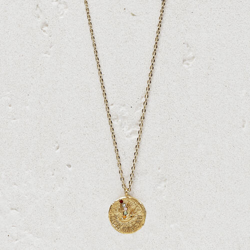 "Necklace with medallion  ""Mon oiseau"" : Jewelry color GOLD"
