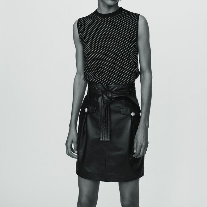 Short leather skirt - See all - MAJE