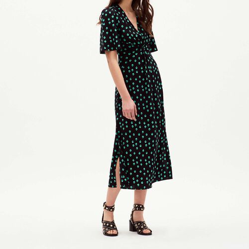 V neck printed dress : Dresses color PRINTED
