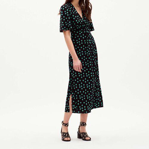 V neck printed dress : Dresses color PRINTED