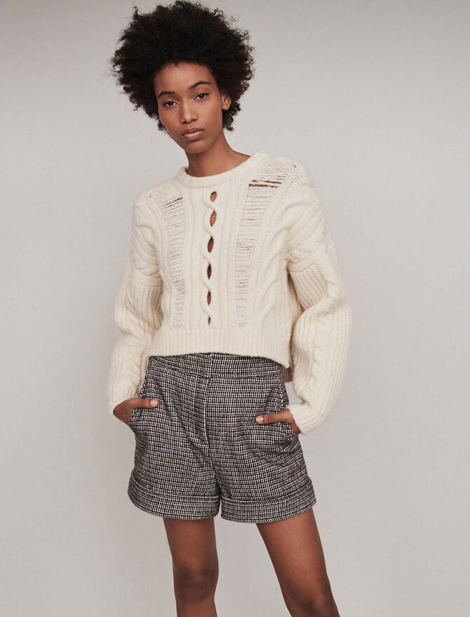 Plaid turn-up shorts - Skirts & Shorts - MAJE