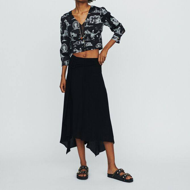 Long asymmetric skirt - See all - MAJE