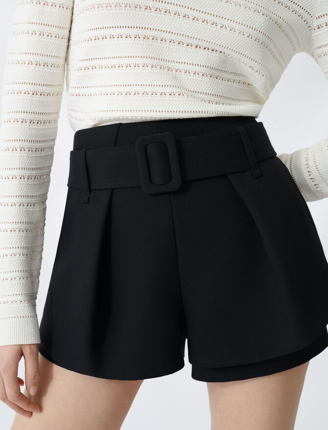 Pleated trompe-l'oeil shorts - New collection - MAJE