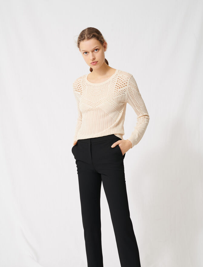 !Lightweight decorative knit jumper - Knitwear - MAJE