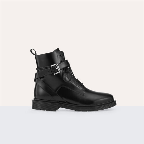Long leather boots - Shoes - MAJE