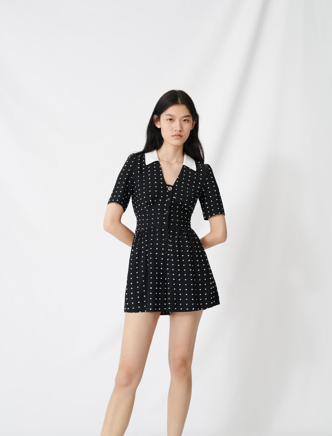 Floaty playsuit with retro polka dots - Jumpshort & Jumpsuits - MAJE