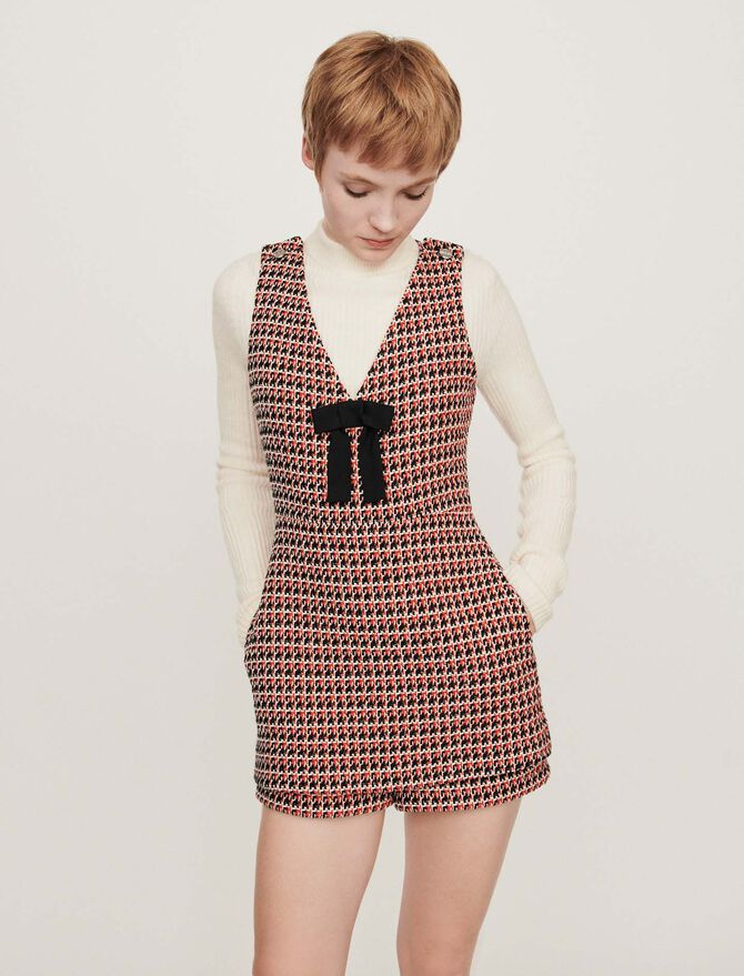Tweed-style playsuit - Trousers & Jeans - MAJE