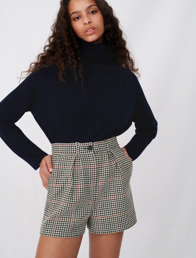 Wide checked shorts -  - MAJE