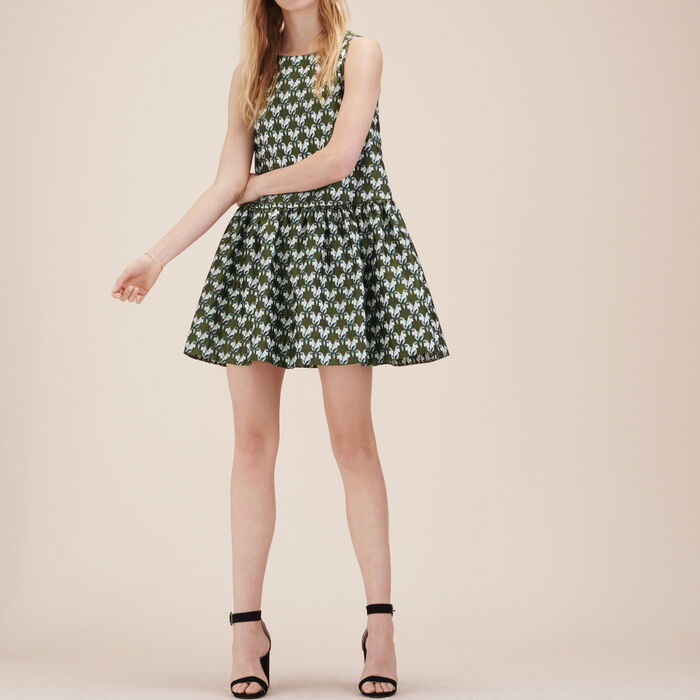 Jacquard sleeveless dress -  - MAJE