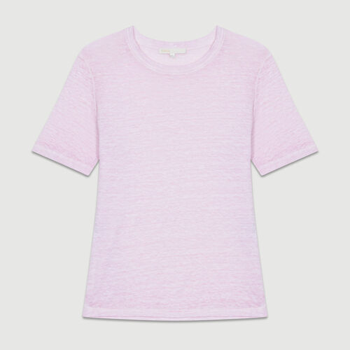 Linen t-shirt : T-Shirts color LILAS