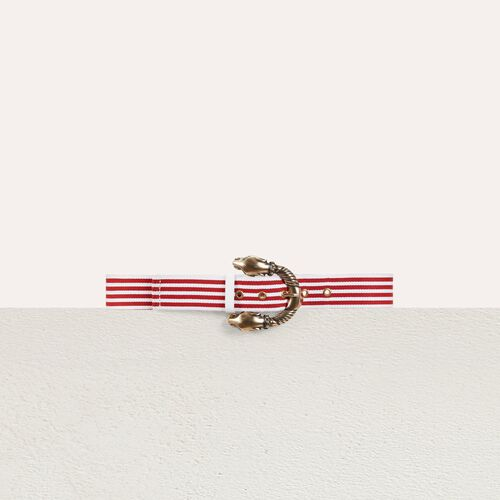 Striped belt : Belts color Red