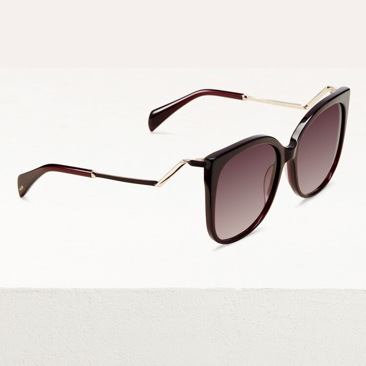 Retro sunglasses : See all color Burgundy