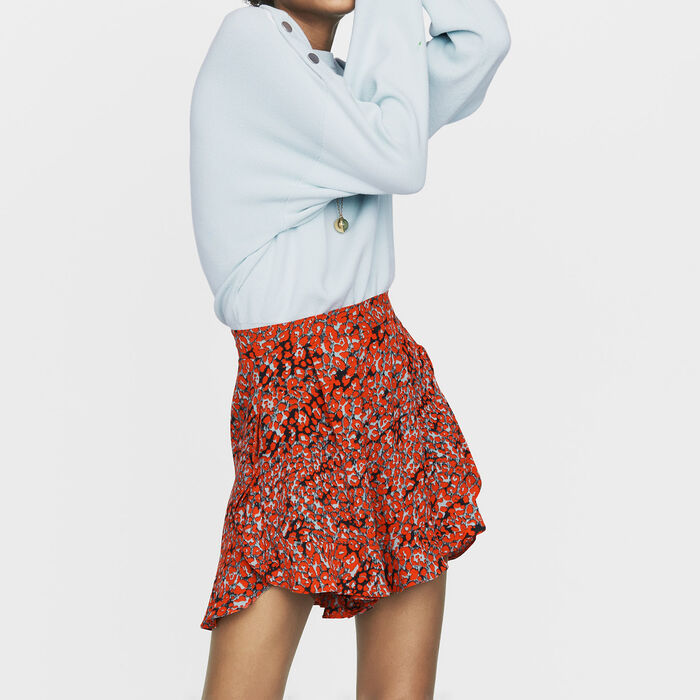 Printed ruffled shorts : New collection color PRINTED