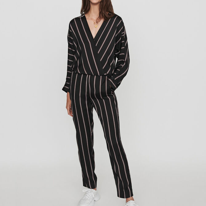 Jumpsuit with racing stripes - staff private sale 20 - MAJE