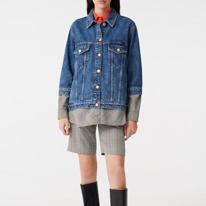 Denim trompe l'oeil jacket -  - MAJE
