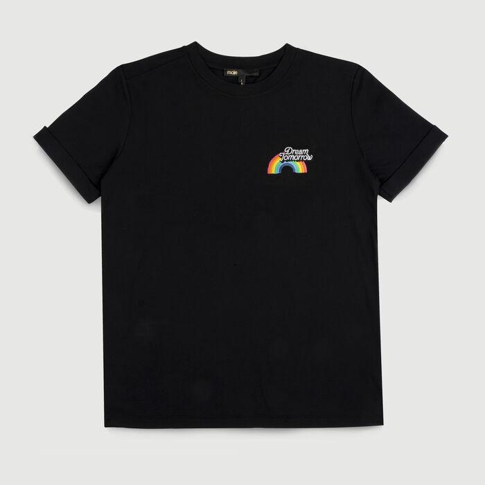 Cotton graphic t-shirt : T-Shirts color Black 210