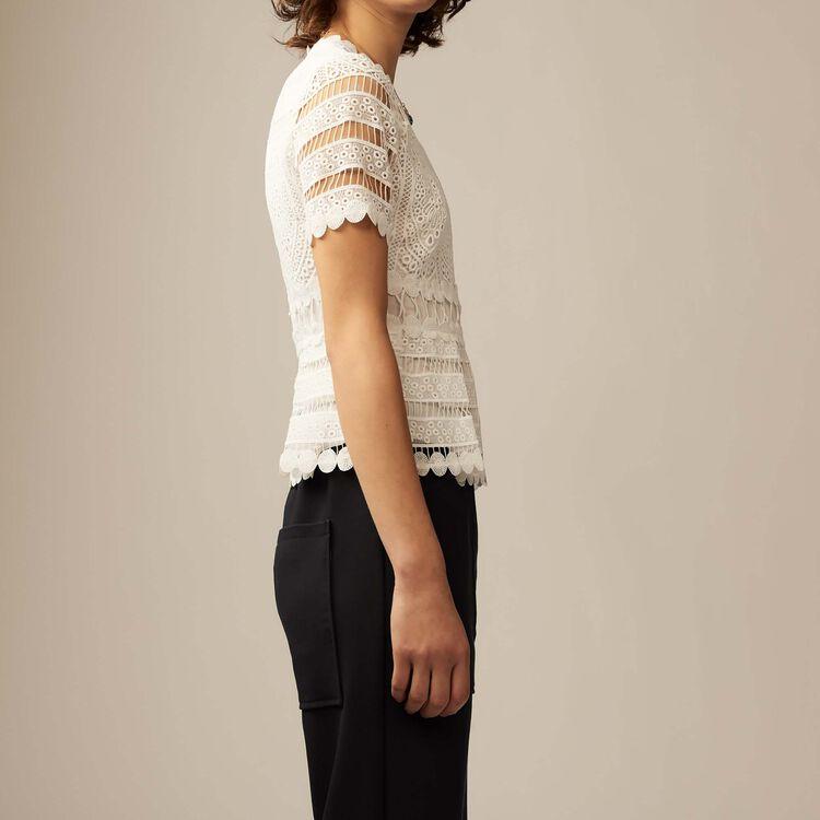 Contoured lace top : Summer collection color ECRU