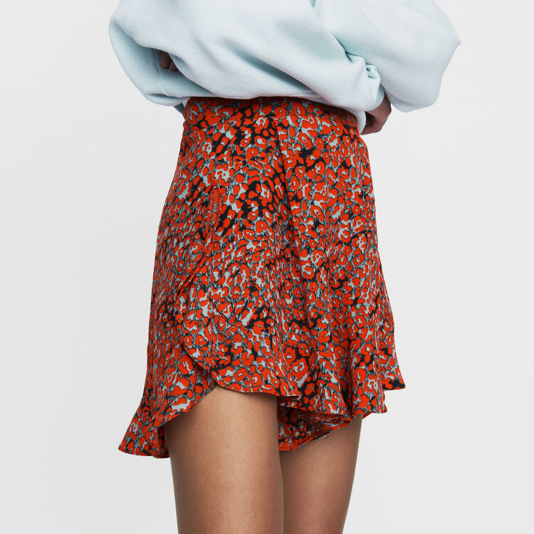 Printed ruffled shorts : Ready to wear color PRINTED