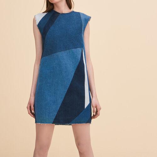 Denim three-hole dress : Dresses color Blue