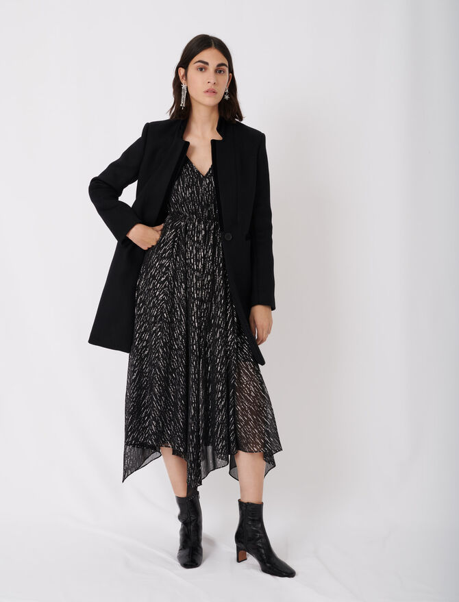 Wool and velvet coat - Eco-friendly - MAJE
