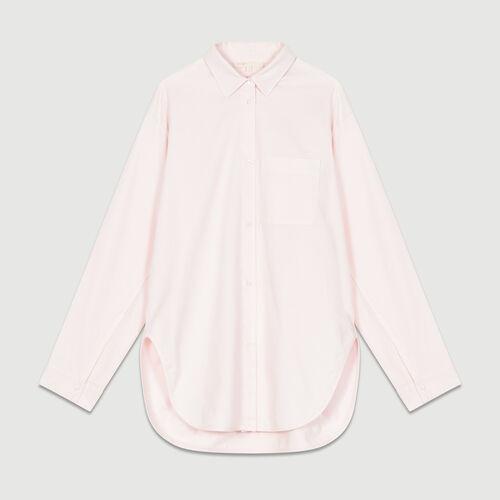 Oversized denim shirt : Shirts color Pale Pink
