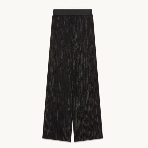 Reversible pleated trousers - null - MAJE