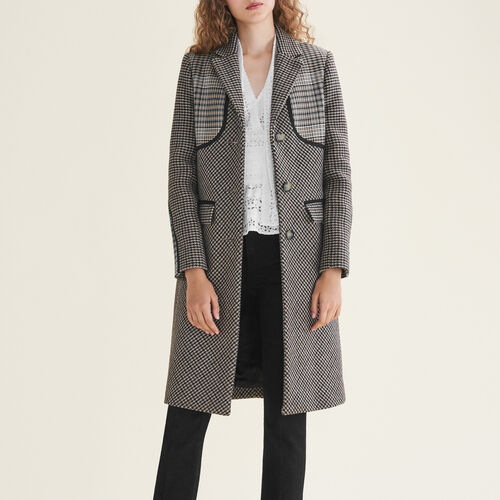 Checked coat : Coats color Jacquard