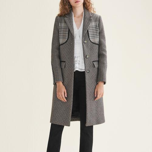Checked coat - Coats - MAJE