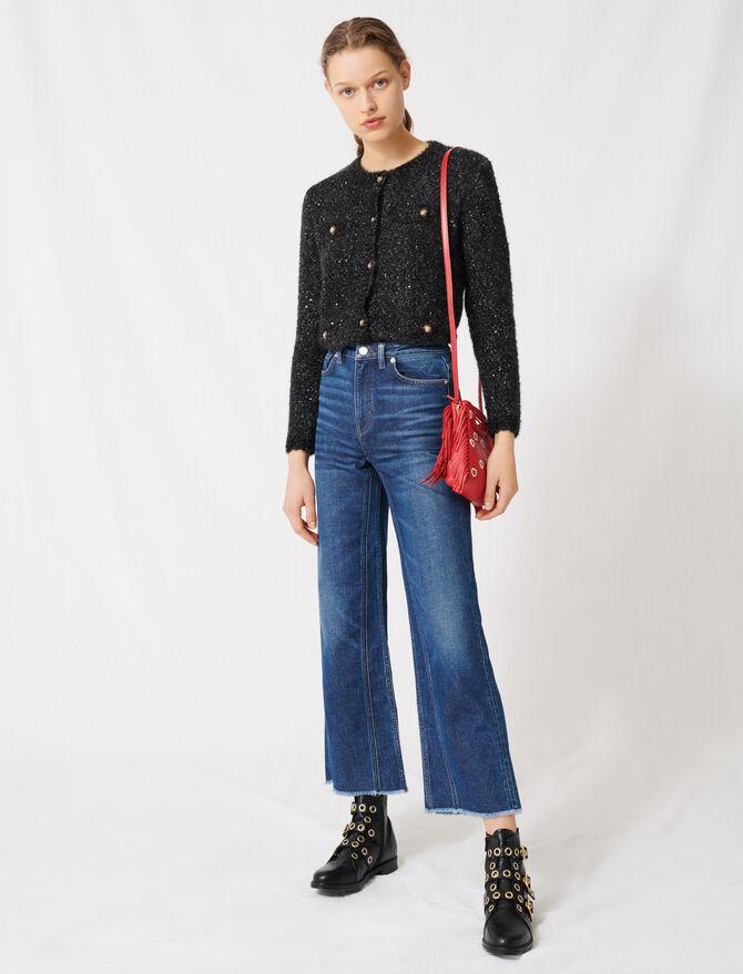 High-waisted wide-leg jeans -  - MAJE