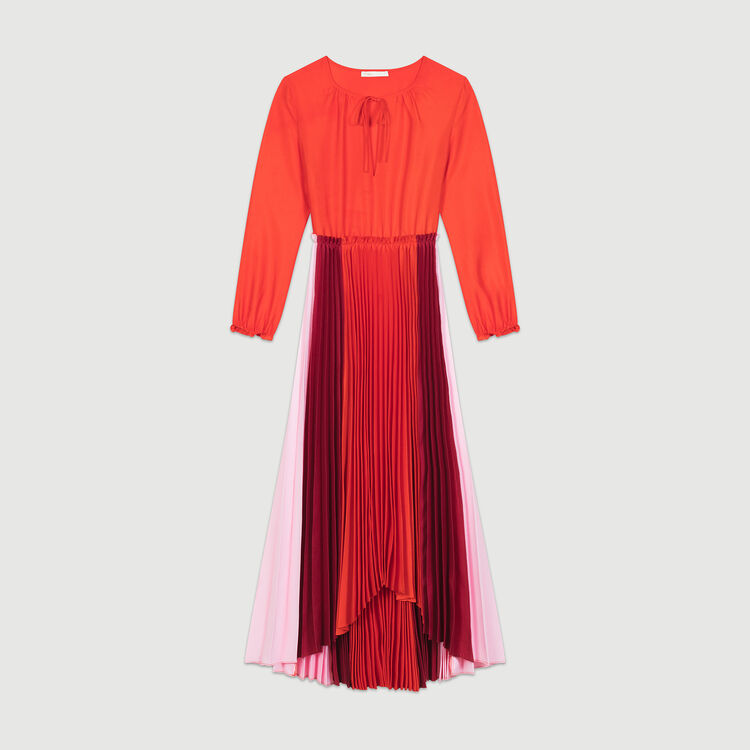 Pleated multicolor shirt dress : Dresses color Multico