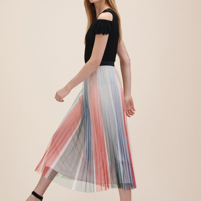 Pleated midi skirt - PLEATS - MAJE