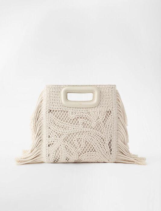 Macramé M bag : M bags color Off White