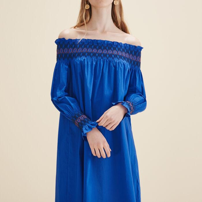 Off-the-shoulder dress -  - MAJE