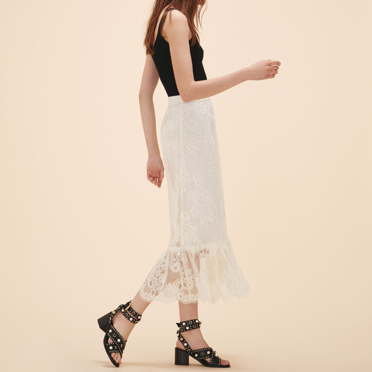 Long lace skirt - See all - MAJE