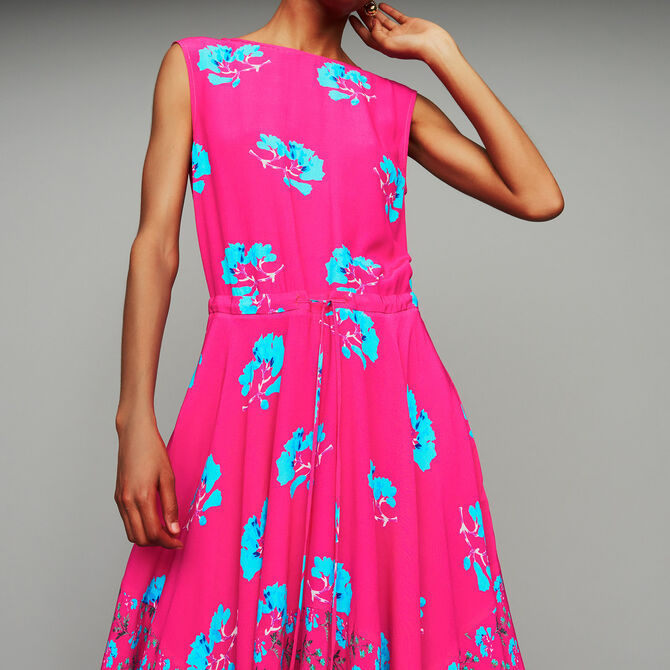 Sleeveless printed long dress - See all - MAJE