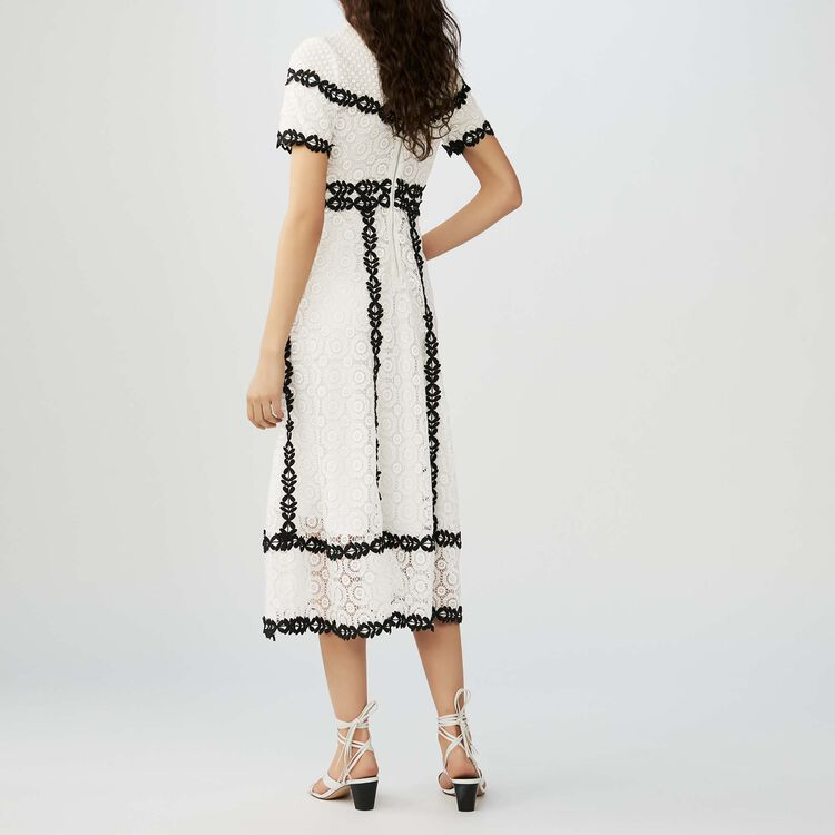 Long dress in bicolored lace : Dresses color Two-Tone
