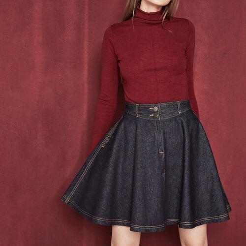 Raw denim A-line skirt : Skirts & Shorts color Denim