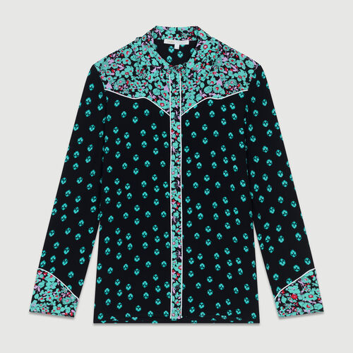 Printed draped shirt : Shirts color PRINTED