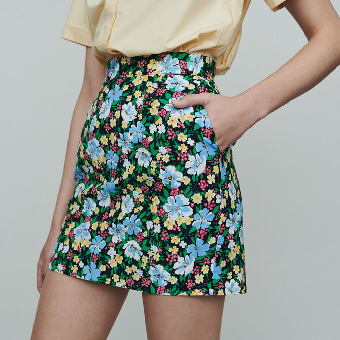 Short skirt with floral print - See all - MAJE